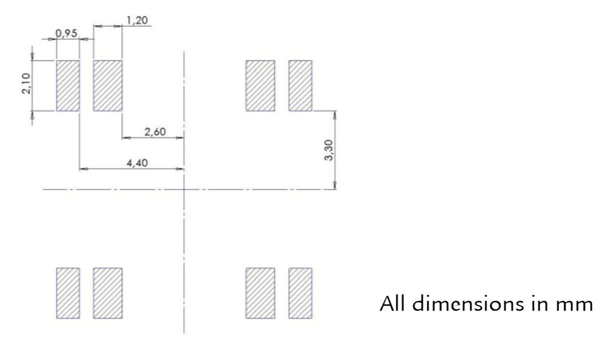 3DC11-DR pad layout