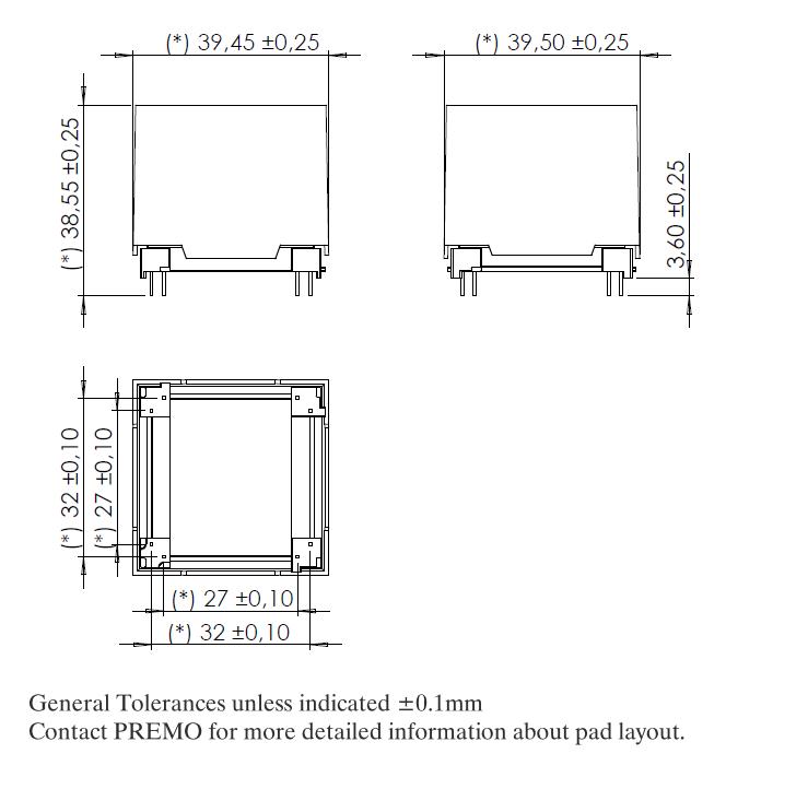 3D28LW dimensions