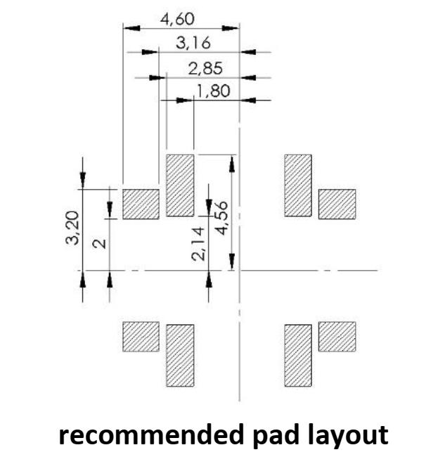 3DC06EM pad layout