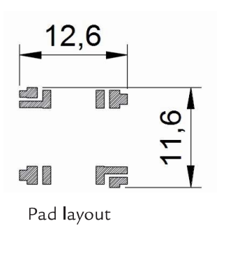 3DC11-DR pad layout