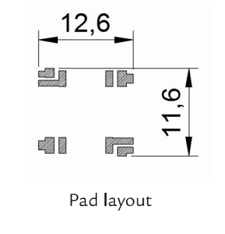 3DC11AOI-05DR pad layout dimensions