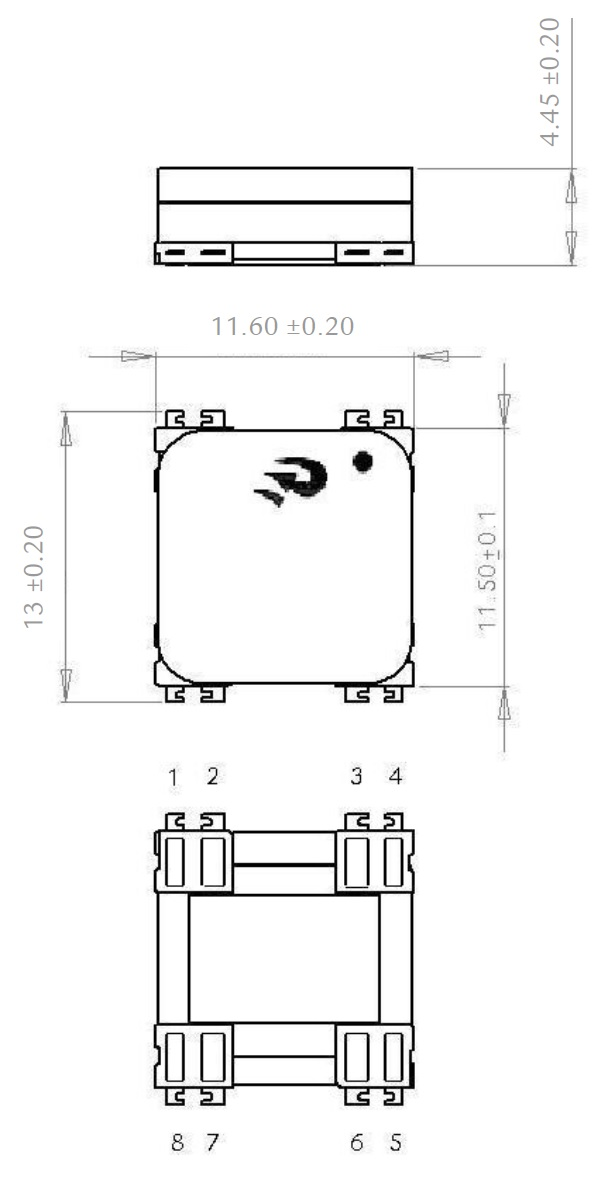 3DC11F dimensions