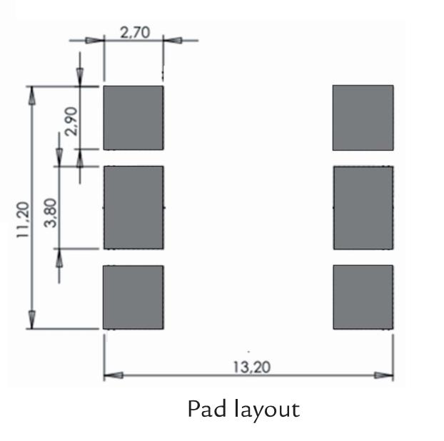3DC12EM pad layout