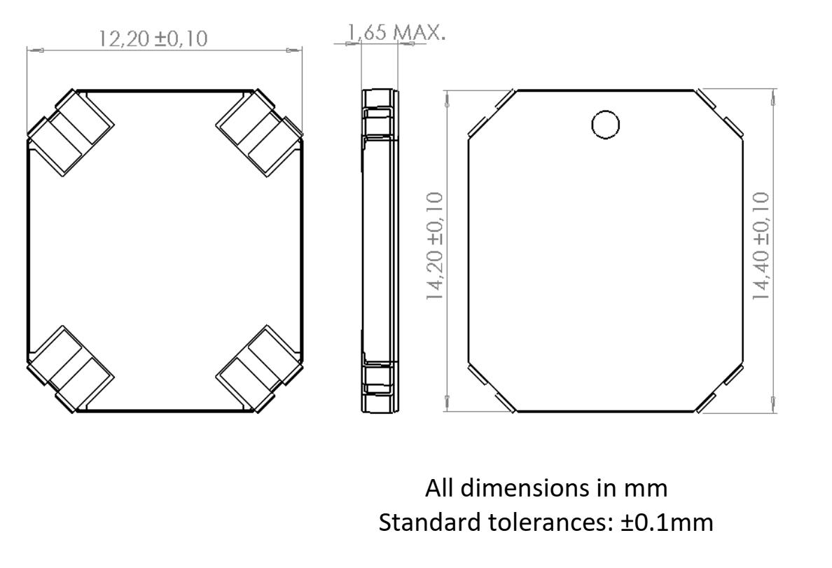 3DC14EM-ULP dimensions