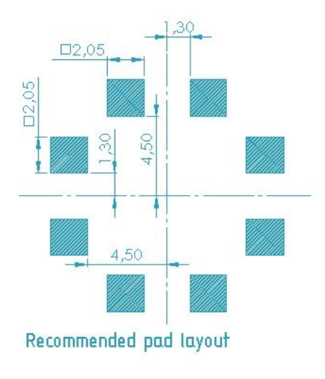 3DC14EM pad layout