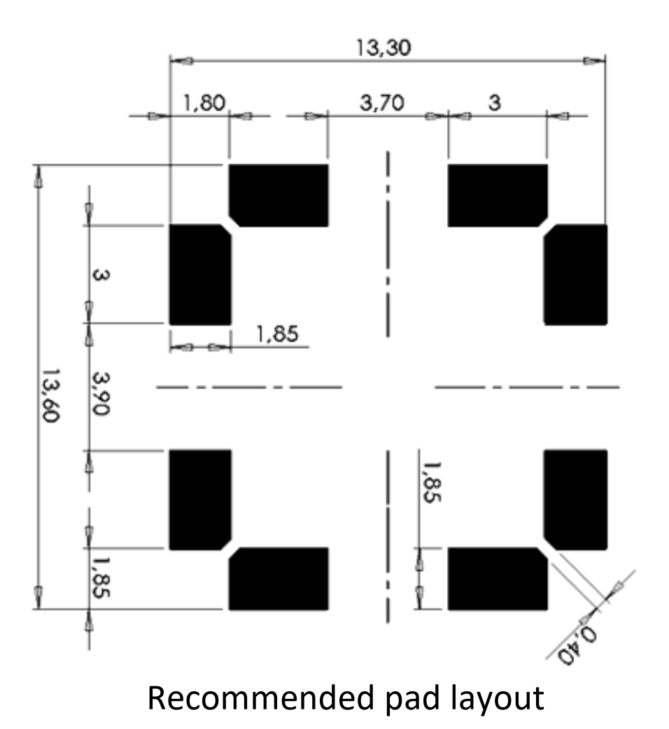 3DC14S pad layout