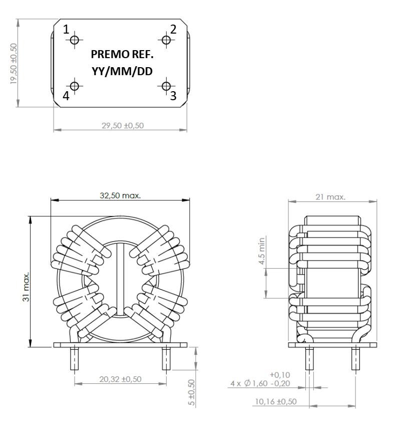 CMCN10R-16V dimensions