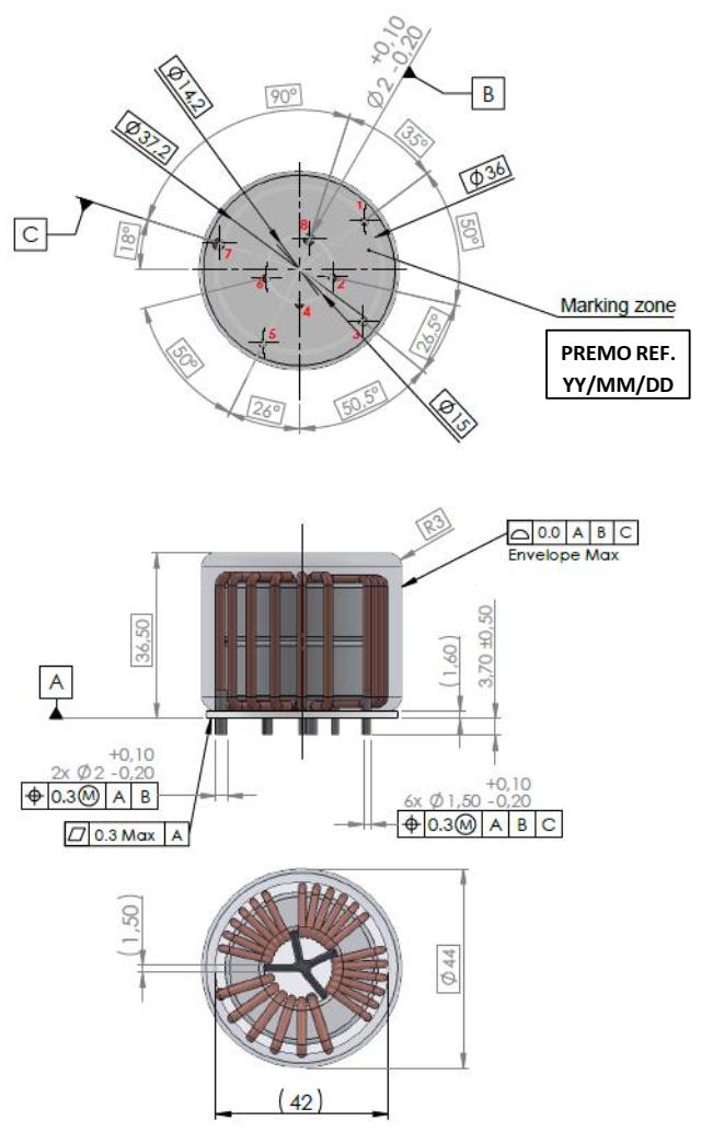 CMCN4R3-16H3 dimensions