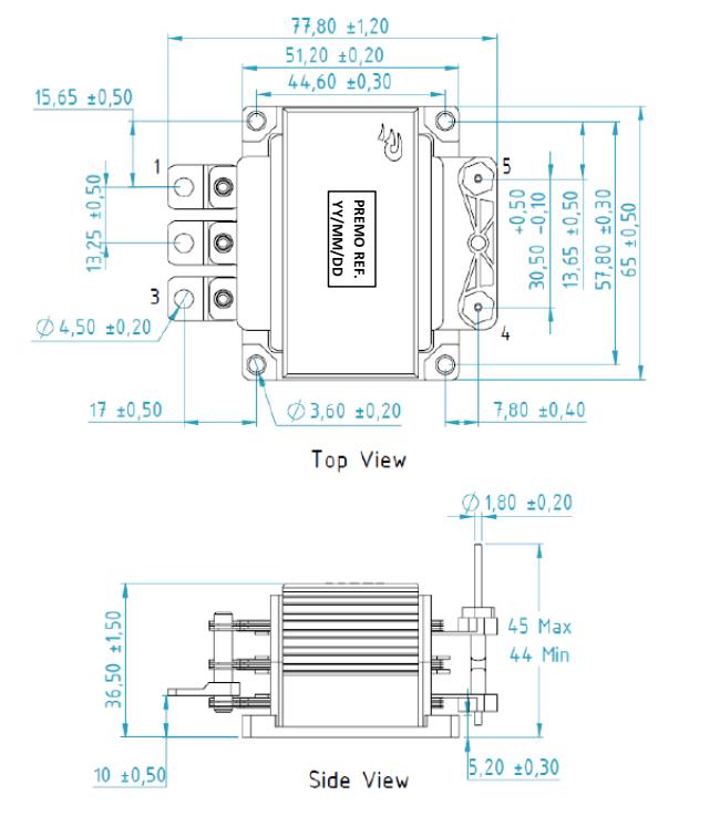 DCDC2400-001 dimensions
