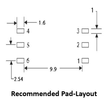 GDAU-004 pad layout