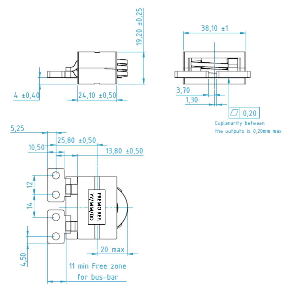 HPC1R0-180 dimensions