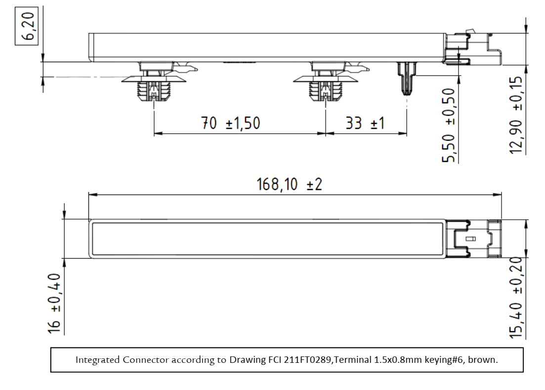 KGEA-MR (Integrated connector) dimensions
