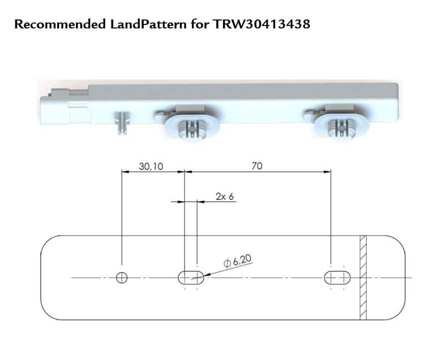 KGEA-MR (Integrated connector) landpattern