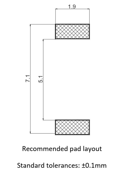 TP0602CAP pad layout