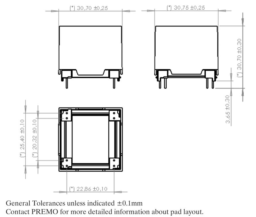 3D20LW dimensions