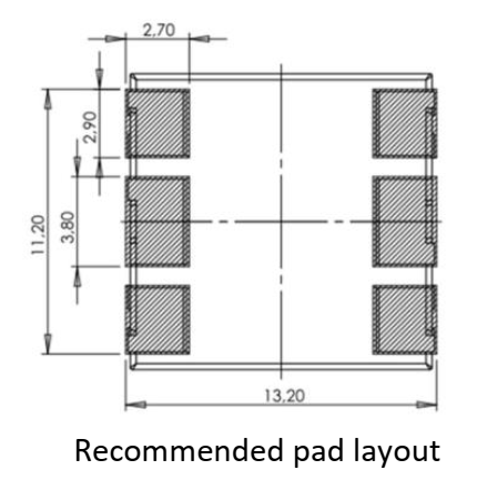 3DC12S pad layout