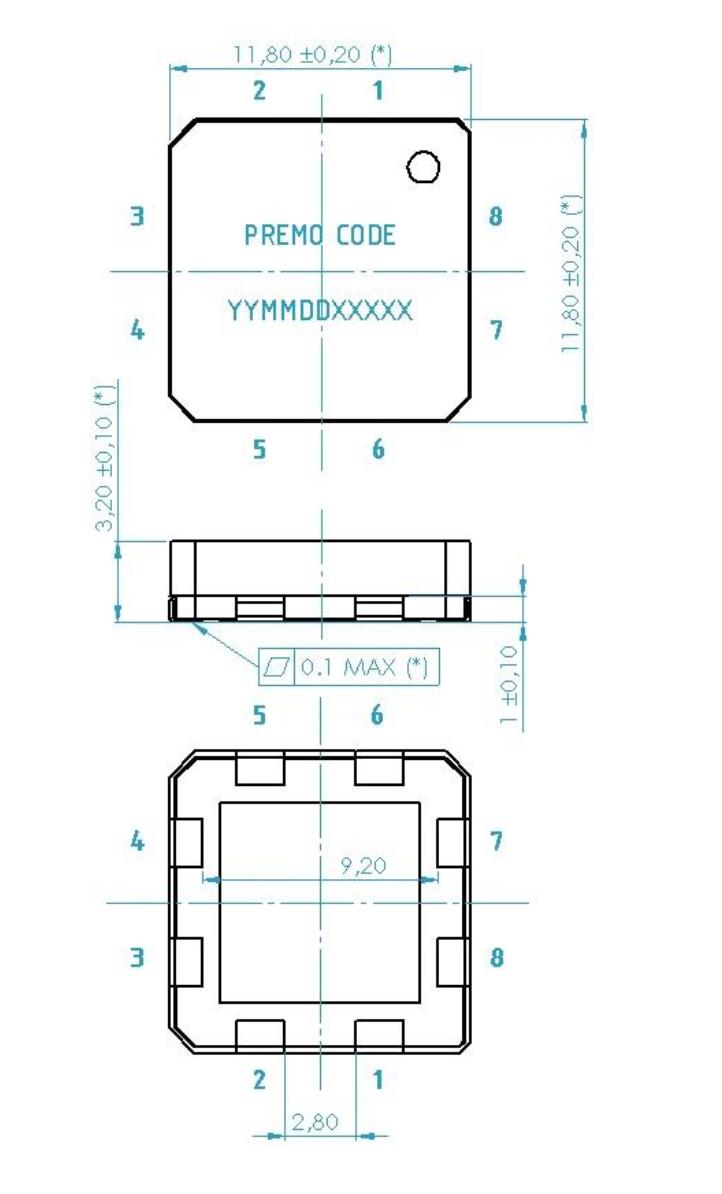 3DC14EM dimensions