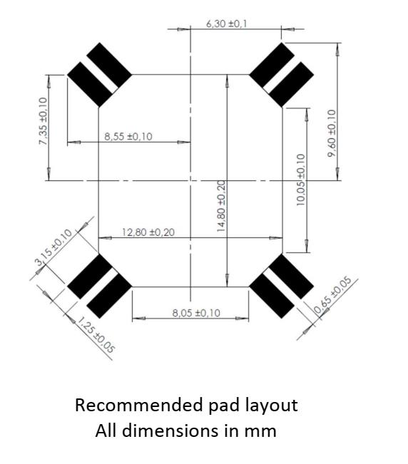3DC14EMR-ULP pad layout