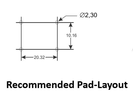 CMCN10R-16V pad layout