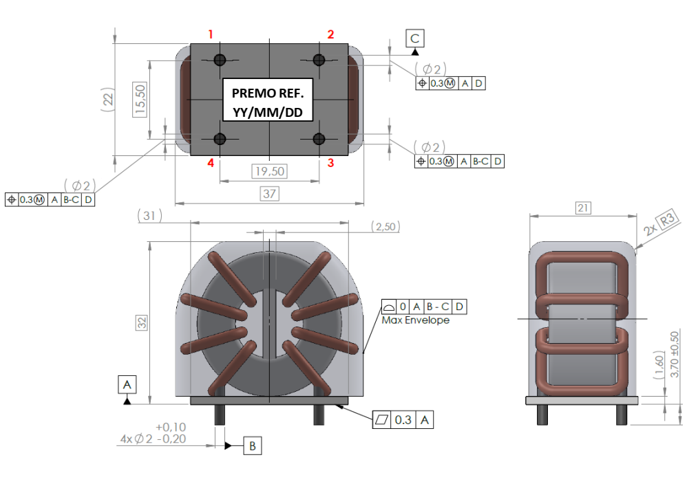 CMCN1R0-36V dimensions