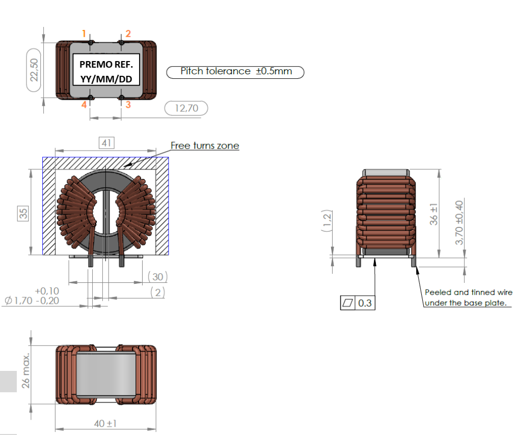 CMCN25R-16V dimensions