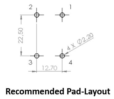 CMCN25R-16V pad layout
