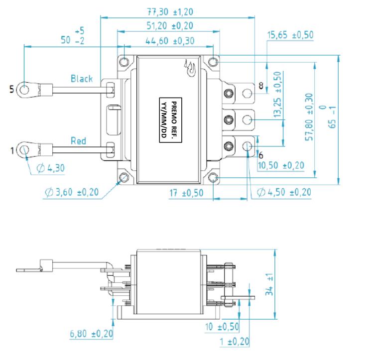 DCDC214-002 dimensions