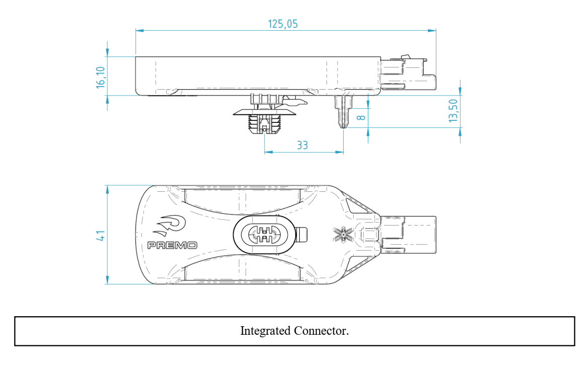 LFAD-MR (Integrated connector) dimensions