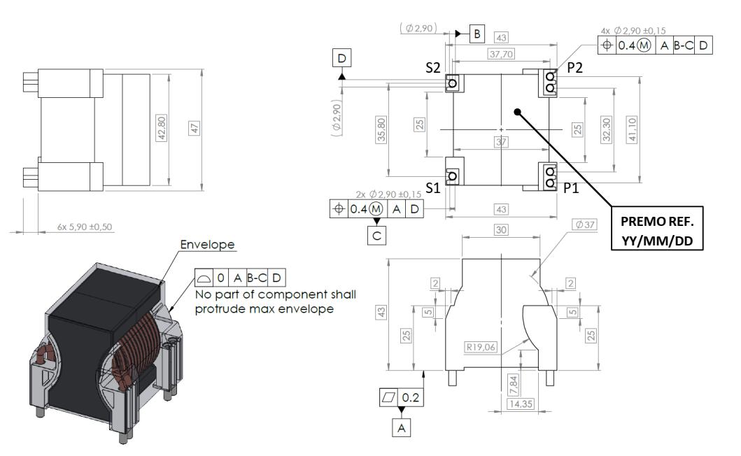 BC3.5LHB0.5T dimensions
