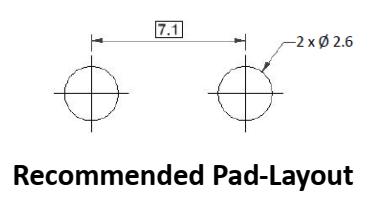 RINDLP36R-5 pad layout