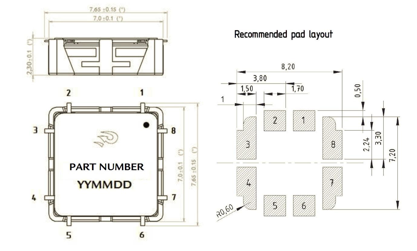 Dimension RFID 3D coil